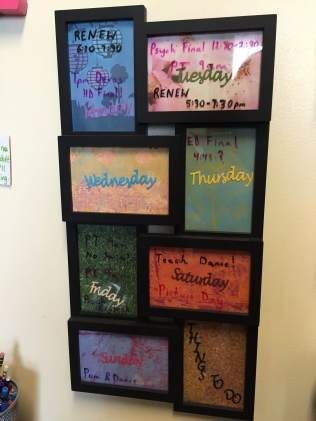 Kristin's DIY calendar