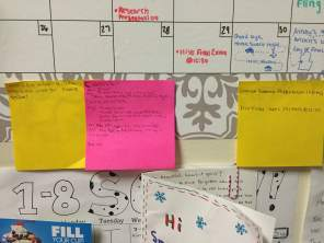 These ones are practical and decorative. They hold my finals dates and my scheduling options.