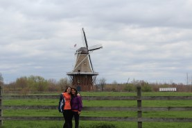 Ashley and I with the windmill