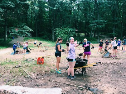 My sorority had a retreat where we discussed the upcoming semester and then helped clean the grounds of a camp that works with inner-city Chicago kids who haven't had the opportunity to camp before!