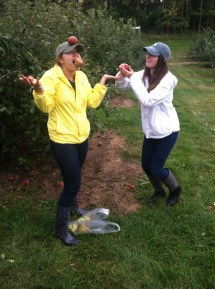 These pictures are from last year when my friends and I went to Crane's to pick apples. It was so much fun!
