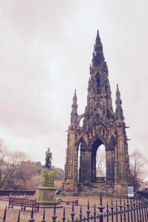 This is the largest monument erected for a writer in the world! It's for the writer Sir Walter Scott (a Scotsman) and has amazing Gothic architecture.