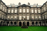 Inside Holyrood Palace, this courtyard was called the Quadrangle. Interesting.