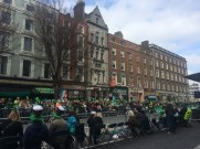 The streets were packed on St. Paddy's Day for the parade!
