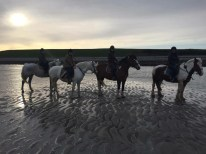 We were so fortunate to see the sunset from our horses, too.