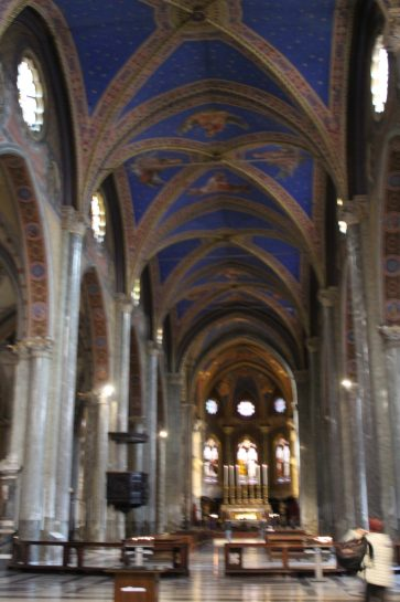 This is inside Santa Maria Sopra Minerva