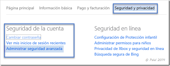 Cuentas Microsoft | Administración - Información - Seguridad y Privacidad (3/4)