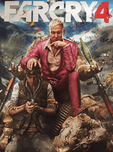 Far Cry 4 is one of the many titles that Megan Hobby has worked on. The poster above is signed by the animation team who worked on the game.  Photo courtesy of Megan Hobby.