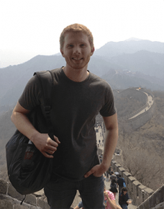 Alan Fowler visits the Great Wall of China. He made the most of his trip to China, touring various landmarks.  Photo courtesy of Alan Fowler