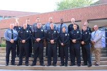 The 115th class stands proud before their graduation ceremony. The Police Academy has been at JCCC officially since 1972. Photo by Lance Martin