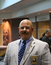 Ken Sissom (Director at the academy) was happy to discuss the of the event. Previous to working for JCCC, Sissom served with the Merriam Police Department for 26 years. Photo by Lance Martin