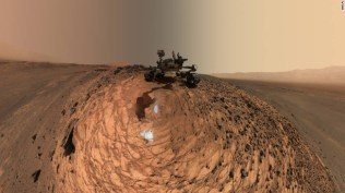 "This low-angle self-portrait of NASA's Curiosity Mars rover from Aug. 5, 2015 shows the vehicle above the ""Buckskin"" rock target in the ""Marias Pass"" area of lower Mount Sharp. Credit: NASA/JPL-Caltech/MSSS"
