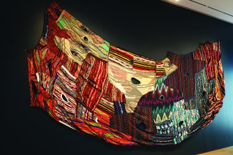 Coogi sweater inspired blanket. Photo by Lance Martin
