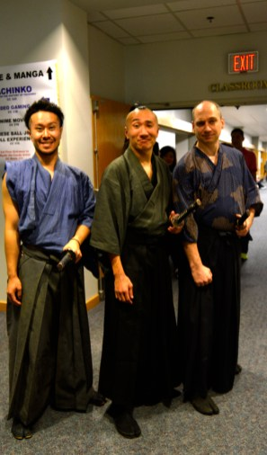 Three men in traditional Japanese attire. Photo by E.J. Wood
