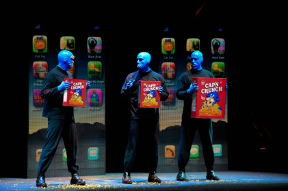 Nonverbal communication is one of the themes of the show Photo at Blue Man Group JCCC Performance, Jan. 22. Photo by Andrew Hartnett.