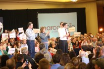The evening prior to the Kansas caucuses, Marco Rubio brought his Presidential campaign to Overland Park. Photo by Henry Lubega.