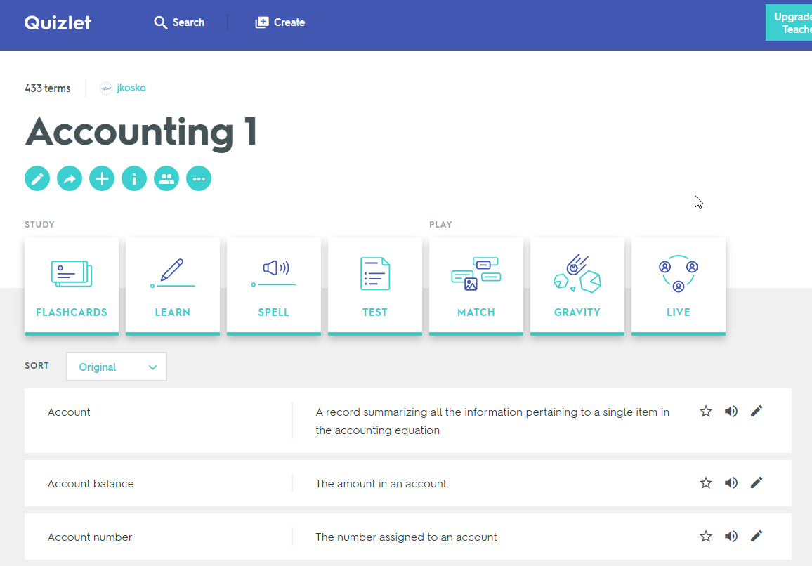 Quizlet Study Learning Tool Employee Resources