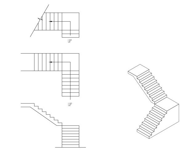 L-Stairs: Drafted and SketchUpped