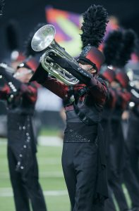 Boston Crusaders performs Saturday, August 9, at the 2014 DCI World Championship Finals at Lucas Oil Stadium in Indianapolis, IN. The corps finished in 10th place with a score of 88.950.