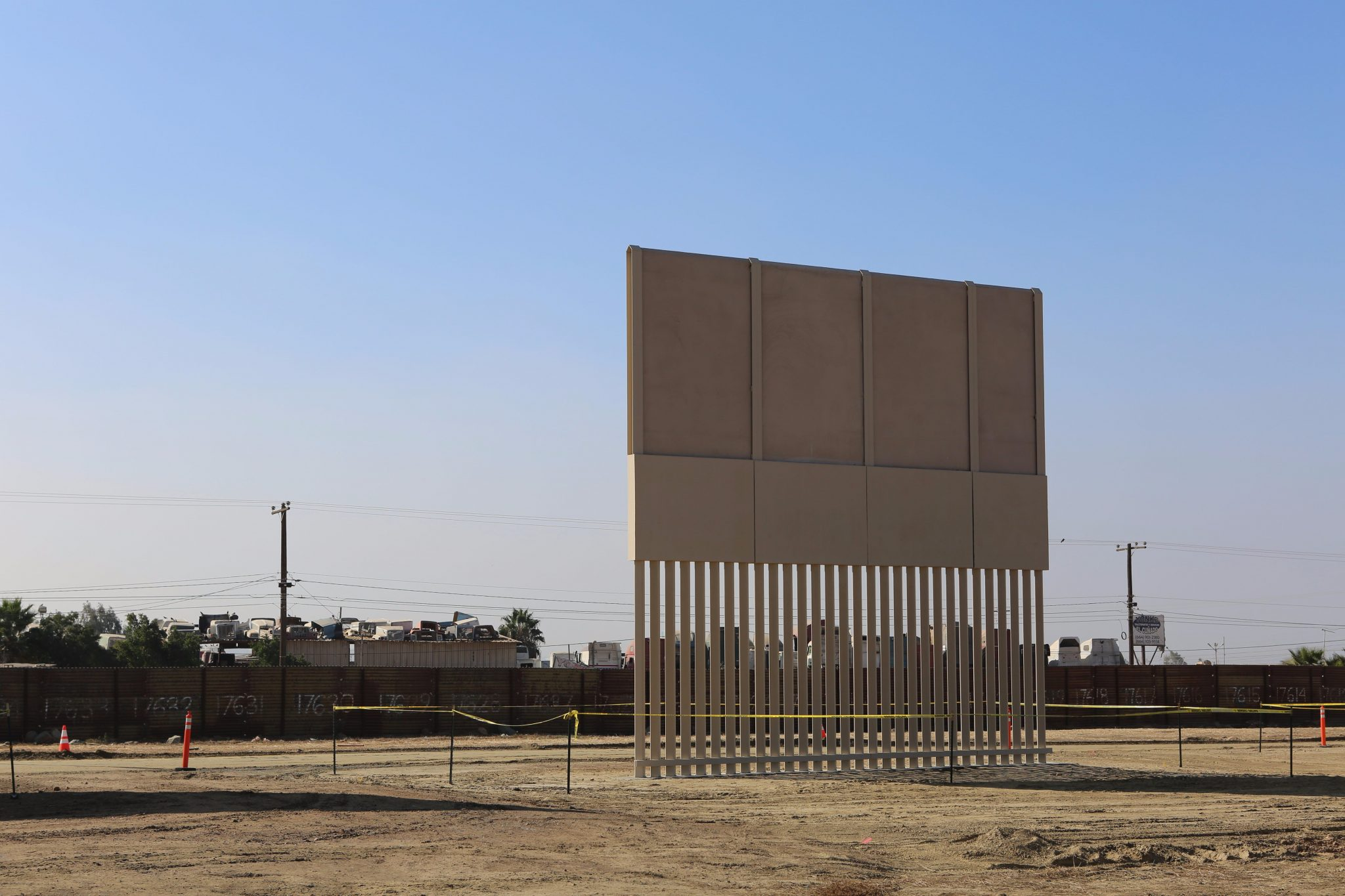 The USMexican border wall prototypes a beautiful patch  Design  Architecture