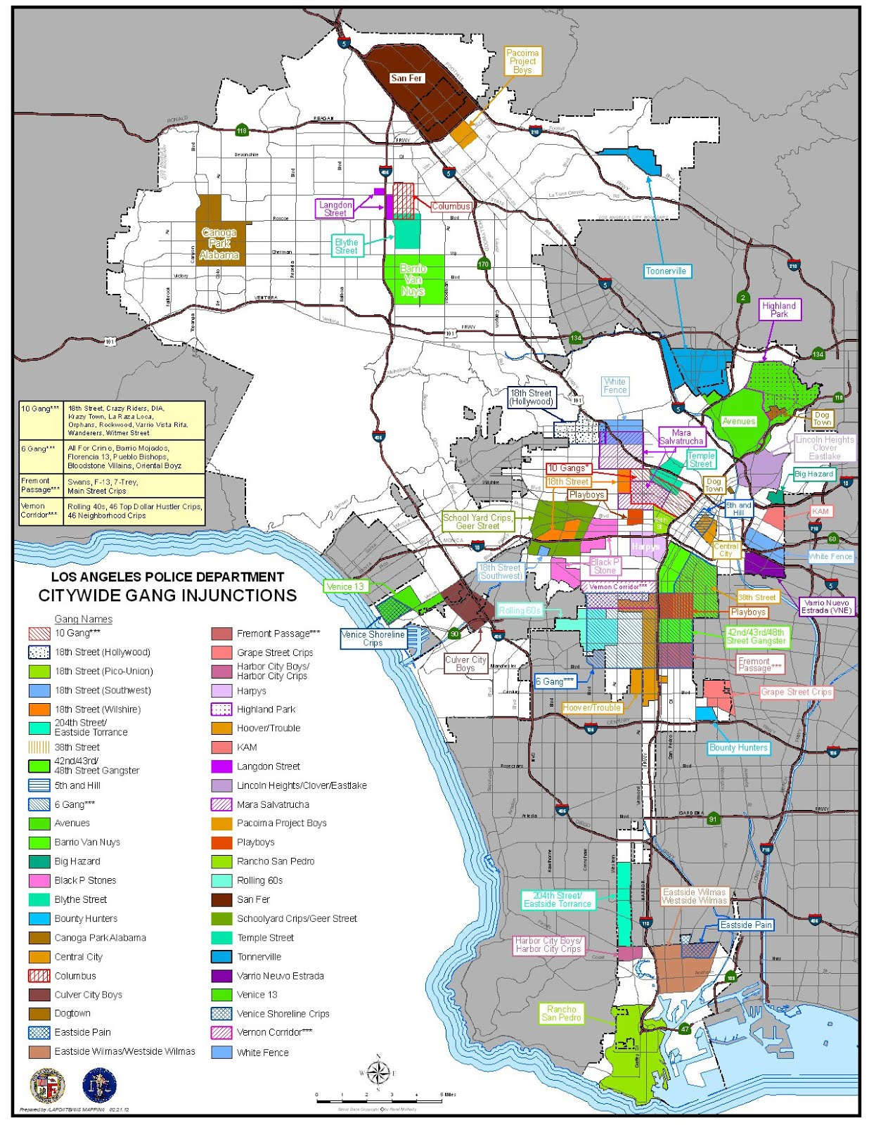 Watts Gang Map : watts, Borders, Create, Invisible, Walls, Angeles