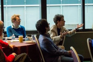 Professor Baker during the Q&A on Professor Harold Koh's paper
