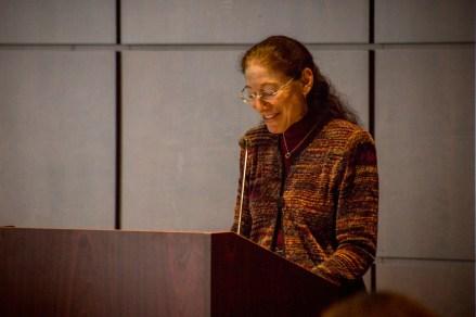 Professor Nancy Marder introducing Professor Harold Koh