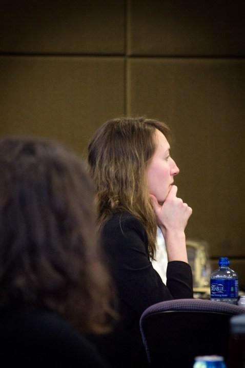 Student Rebecca Spira at Q&A