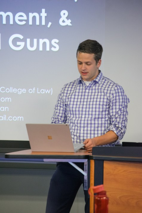 Andrew Willis introducing 3D Printed Guns Event