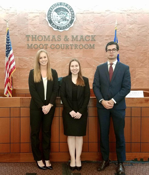 2018 Schreck MCHS Team in Vegas Courtroom