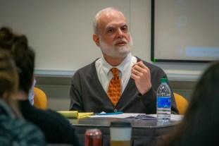 Professor Steven Heyman speaking at Impeachment 101 Panel
