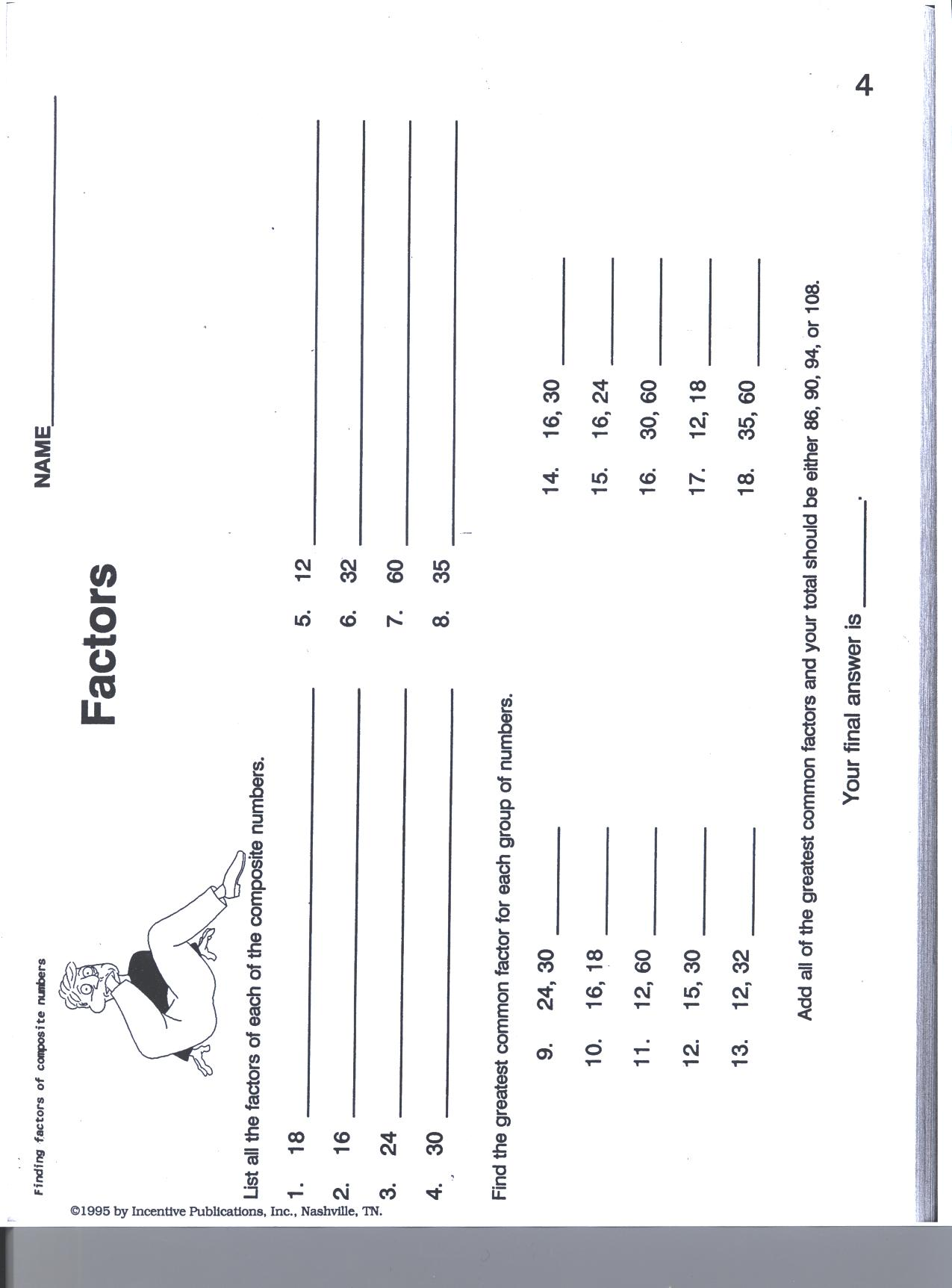 Fall Break Bonus Worksheets For Grade 6
