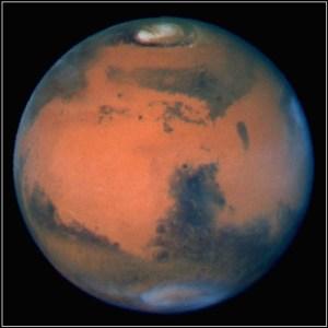 Fotografía de Marte obtenida por el Telescopio Espacial Hubble