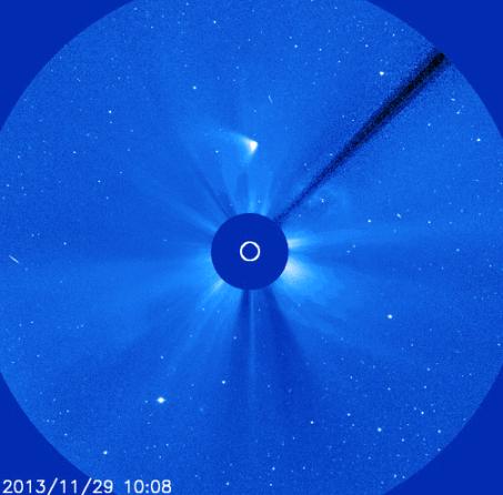 Cometa ISON presenta dos colas, foto por SOHO/NASA