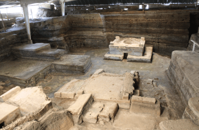 Imagen de sitio arqueológico Joya de Cerén, imagen por Jorge Colorado