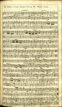 A Song from Richard Steele's comedy The Lying Lover printed in Walsh's The Monthly Mask of Vocal Music (April 1704). Mus 526.10 F
