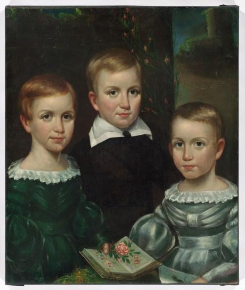 Bullard, Otis Allan, 1816-1853. The Dickinson children, c. 1840.