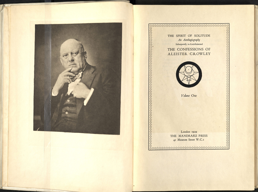» An Autohagiography Of Aleister Crowley Modern Books And