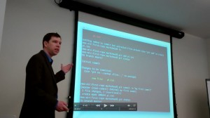Mark Shead Teaching Git Class
