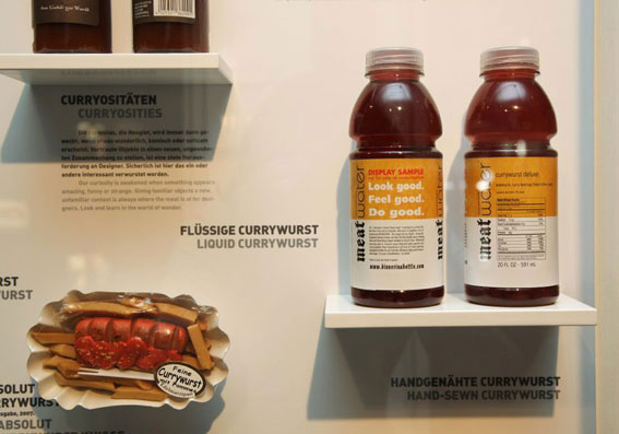 Liquid Currywurst display at the Sausage Museum