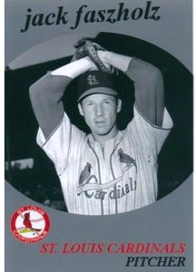 "between April and June 1953, Jack ""Preacher"" Faszholz wore the No. 41 jersey and pitched for the St. Louis Cardinals before he gave up baseball to become an ordained LCMS pastor."