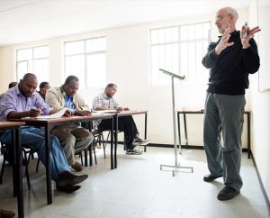 The Rev. Dr. Alan Ludwig, a theological educator serving as a missionary in Siberia, Russia, teaches class Nov. 13, 2014, at Mekane Yesus Seminary in Addis Ababa, Ethiopia. The LCMS seeks to fill the need for more theological educators and English as a foreign language teachers in Africa this year. (LCMS/Erik M. Lunsford)