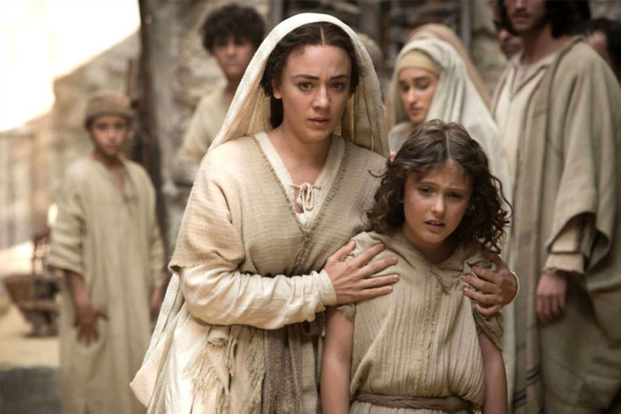 "Although ""The Young Messiah"" tells the fictionalized story of a 7-year-old Jesus (played by Adam Greaves-Neal, right), it is not a film for children. Sara Lazzaro, left, gives a notable performance as the Virgin Mary, according to reviewer Rev. Ted Giese."