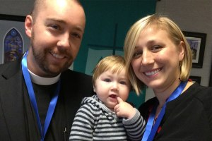 The Rev. Brian and Amanda Gauthier pose with their son, Ezra. The Gauthiers will be serving in Panama as the Synod's only missionaries in that country. (Courtesy of Brian Gauthier)