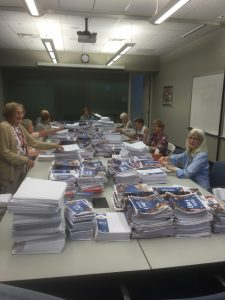 IC Volunteers preparing monumental LIBERTY Synodical Mass Mailing