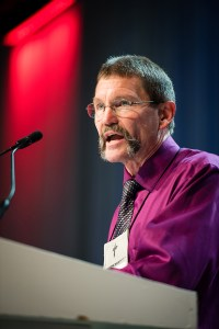 The Rev. Terry Forke, chairman of Floor Committee 14 on Church and Culture and president of the LCMS Montana District, addresses the 66th Regular Convention of The Lutheran Church—Missouri Synod. (LCMS/Michael Scheurmann)