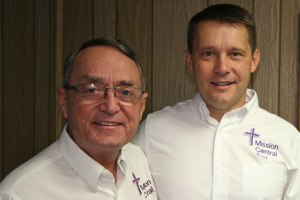 Gary Thies, left, and the Rev. Dr. Brent Smith