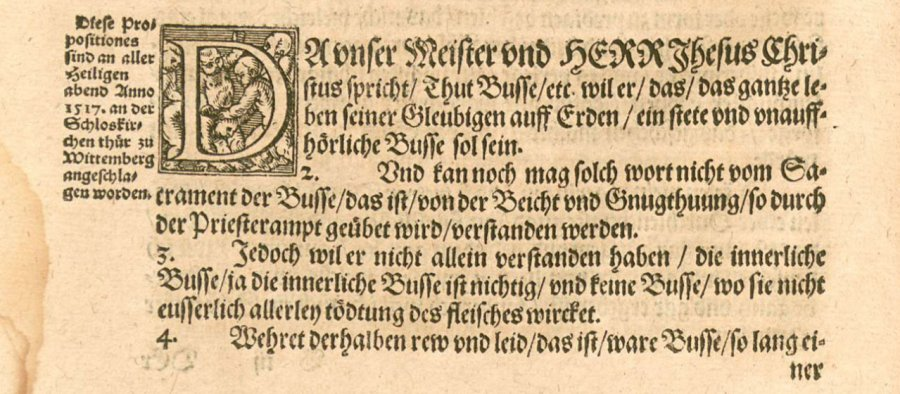 Luther's 95 Theses. c. 1557 [Public domain], via Wikimedia Commons