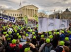 Lutherans gather in front of the U.S. Supreme Court in Washington, D.C., after the 2017 March for Life. The 2018 march will be held on Jan. 19. (LCMS/Erik M. Lunsford)