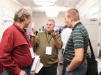 Attendees at the LCMS Rural and Small Town Mission Conference, held Nov. 9-11 in Kansas City, Mo., chat in the hallway between breakout sessions.
